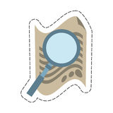 Document with magnifying glass icon image. Illustration Stock Photos