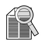 Document with magnifying glass isolated icon Royalty Free Stock Photography