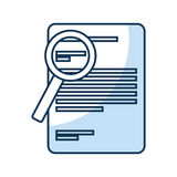 Document with magnifying glass isolated icon Stock Photography