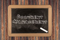 Document Management - chalkboard Royalty Free Stock Photos