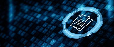 Free Document Management Data System Business Internet Concept Royalty Free Stock Photography - 149702877