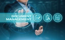 Document Management Data System Business Internet Technology Concept.  Stock Photo
