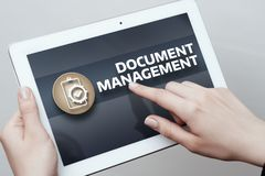 Document Management Data System Business Internet Technology Concept.  royalty free stock photo