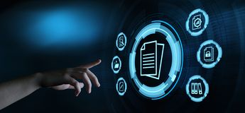 Free Document Management Data System Business Technology Concept Royalty Free Stock Image - 150683296
