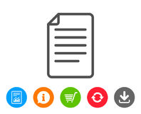Document Management line icon. File sign. Royalty Free Stock Photo