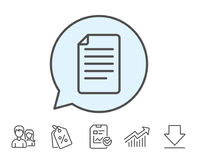Document Management line icon. File sign. Stock Photos