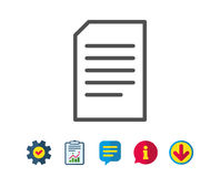Document Management line icon. File sign. Royalty Free Stock Images