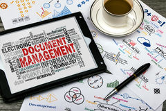 Document management word cloud Royalty Free Stock Photo