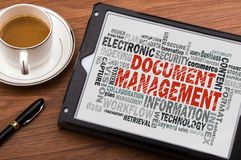 Document management word cloud Stock Images