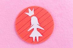 document meisje op roze achtergrond stock foto