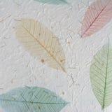 Document met bladeren Stock Afbeeldingen