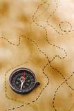 Document met kompas Royalty-vrije Stock Afbeeldingen
