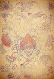 Document met ornament Stock Afbeelding