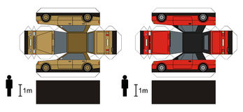 Document model van auto's royalty-vrije illustratie