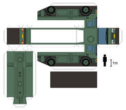 Document model van een militaire tankwagen Stock Afbeeldingen