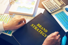 document with name Brand Strategy. stock photography