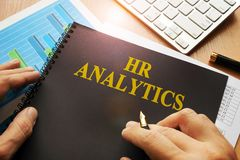 Document with name hr analytics. stock images