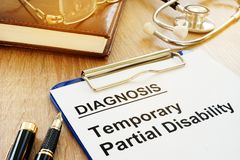 Temporary Partial Disability TPD. royalty free stock images