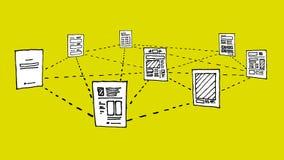 Document network / Information data exchange Stock Photos