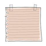 Document nota en Afplakband Royalty-vrije Stock Afbeelding