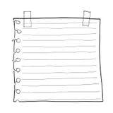 Document nota en art. van de Afplakband het leuke lijn Royalty-vrije Stock Foto's