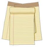 Document notawijnoogst, document bladen, gevoerd document Royalty-vrije Stock Foto's