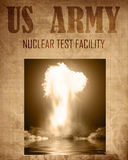 Document of a nuclear explosion stock images