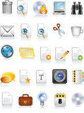 Document and office icons Stock Photography