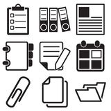 Document Office Icons. This is file of EPS8 format Stock Photos