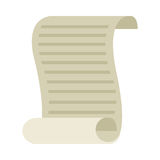 Document old paper isolated icon. Vector illustration design stock illustration