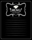 Document ontwerp met menuvoedsel en dranken Stock Afbeelding