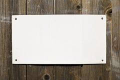 Document op Bruine Houten Textuur Stock Foto's