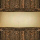 Document op houten achtergrond stock foto
