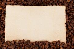 Document op koffiegewassen Stock Afbeelding