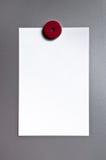 Document op magnetische raad Stock Foto