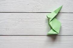 Document origami met de hand gemaakt konijntje Royalty-vrije Stock Afbeeldingen
