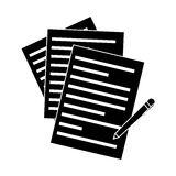 Document pages and pen Royalty Free Stock Photo
