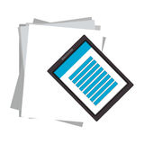 Document pages and smartphone Royalty Free Stock Photos