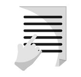 document paper and cursor design Royalty Free Stock Photos