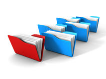 Document Paper Office Folders On White Background Royalty Free Stock Images