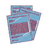 Document paper pages. Document paper sheets over white background. draw design. vector illustration royalty free illustration