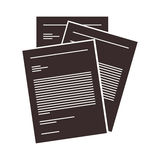 Document paper pages. Document paper sheets over white background. vector illustration vector illustration