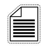 Document paper report. Icon vector illustration graphic design Stock Images