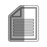 Document paper report. Icon vector illustration graphic design Stock Photo