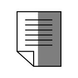Document paper report. Icon vector illustration graphic design Royalty Free Stock Images