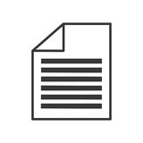 Document paper report. Icon vector illustration graphic design Royalty Free Stock Photos