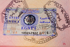 Document passport with stamps and visa stock images