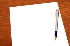 Document, pen Stock Foto's