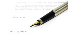A document and a pen Royalty Free Stock Image