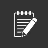 Document with pencil pictogram icon. Royalty Free Stock Image